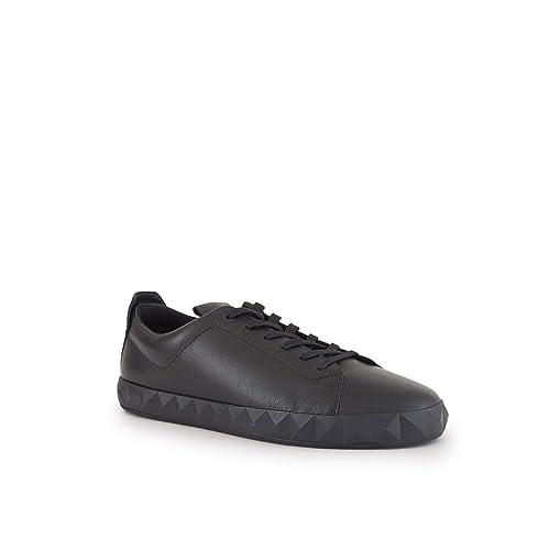 EMPORIO ARMANI IVO Zapatillas Moda Hombres Negro - 42 - Zapatillas Bajas: Amazon.es: Zapatos y complementos