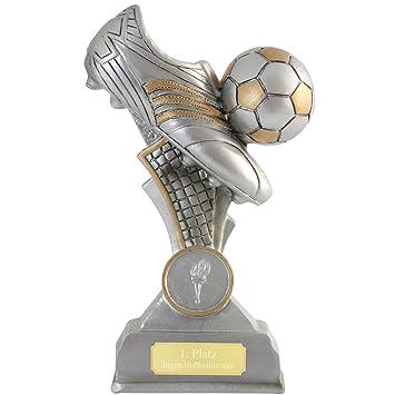Pokalspezialist Fussball Pokal Bernis Fussballschuh Fussballpokal Trophae 16 Cm Pvc Mit Oder Ohne Gravur