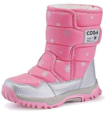 368ecaea4819a katliu Bottes Neige Fille Garçon Bottines Fourrure Chaudes Antidérapante  Chaussures d hiver pour Enfants