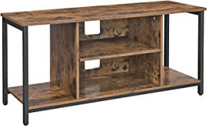 VASAGLE TV Stand for 50 Inches TV, TV Console Table with Storage, Entertainment Center, for Living Room, Industrial Rustic Brown ULTV39BX