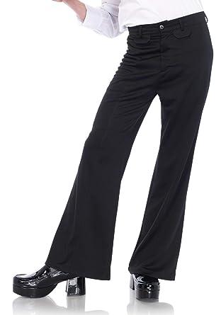 6c81108827be Amazon.com  Adult Mens 70s Funky Black Disco Bell Bottom Pants ...