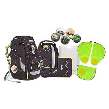 12cc87dfd8e69 Ergobag pack - Schulrucksack Set 6 tlg. Drunter und DrüBär inkl.  Sicherheitssets in GRÜN