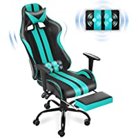 Ferghana Gaming Chair with Footrest, Gaming Chair Massage, Ergonomic Gaming Chair, Gamer Chair with Height Adjustment…