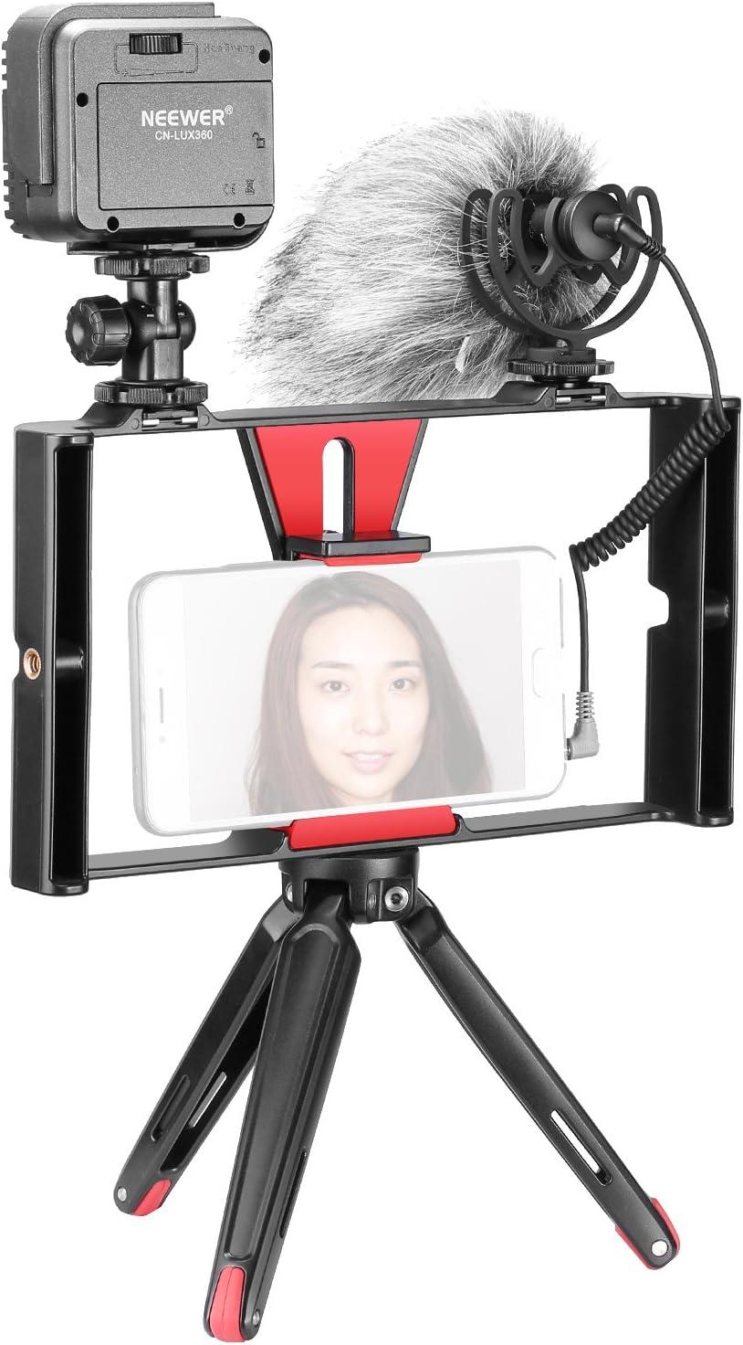 Neewer 4 en 1 Smartphone Vlog Rig Kit de Grabación de ...