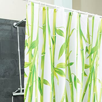 Badewanne Duschvorhang duschvorhang bambus textil hygienisch badewannen