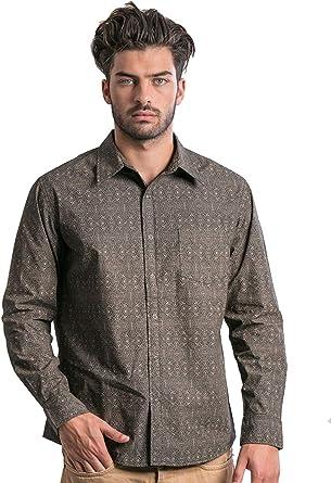 Street Habit - Camisa Casual - con Botones - Manga Larga - para Hombre: Amazon.es: Ropa y accesorios