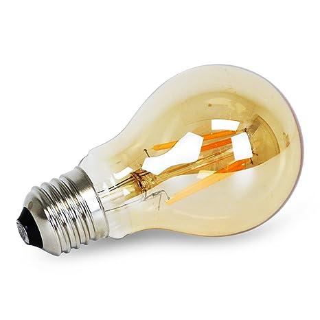 Bombilla Vintage Regulable LED E27 A60 4W (1800 K) - Decoración de Fiestas,