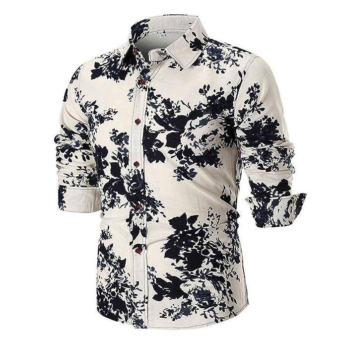 ... Camisa de Manga Larga Delgada Ocasional del Verano de los Hombres de la Personalidad Polo de Hombre Estampado Delgado Camisetas Hombre: Amazon.es: Ropa ...