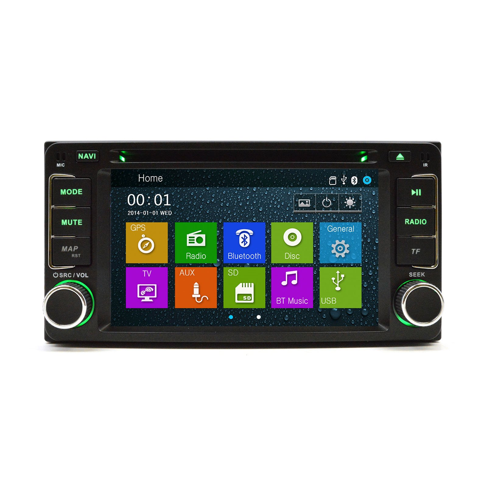 2002-2007 Toyota Highlander In Dash Double Din Touch Screen GPS iPod DVD Navigation Radio S40 Model