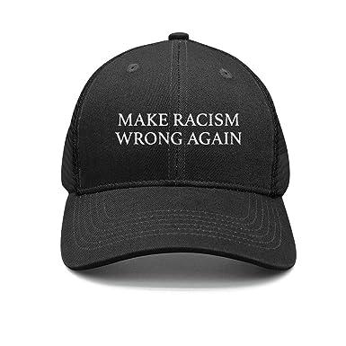 Gorra Strapback Hombres s/Women s Make Racism Wrong Again Gorra ...