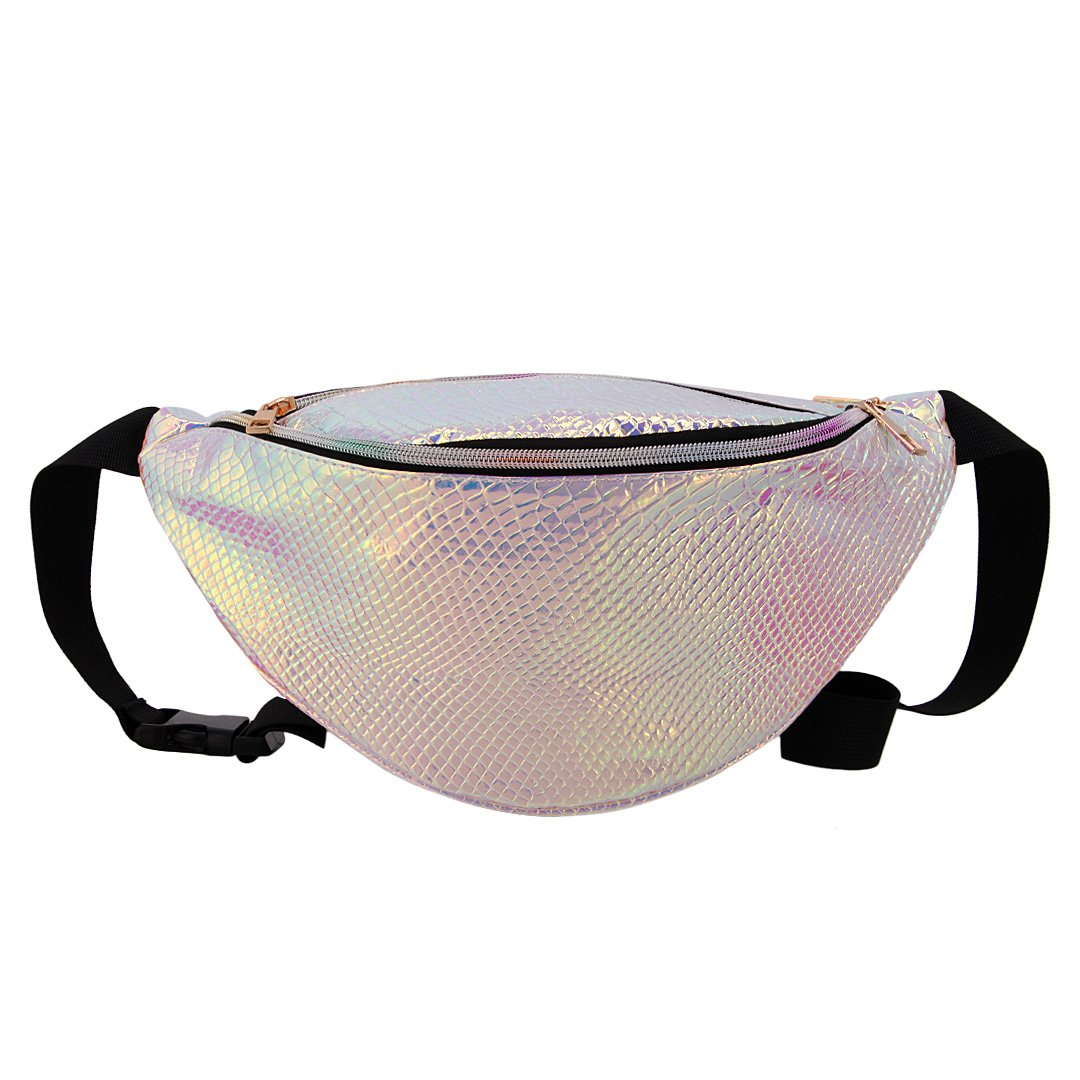 Naimo Waterproof Holographic Laser Fanny Pack Bum Bag Purse Waist Bag (Laser Purple)