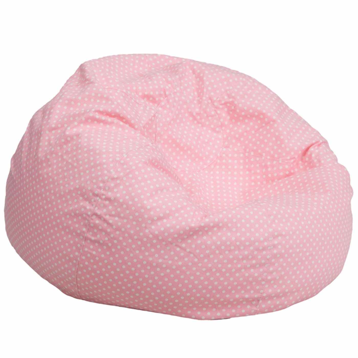 Winston Direct Kids Series Oversized Polka Dot Bean Bag Chair - Pastel Pink by Winston Direct