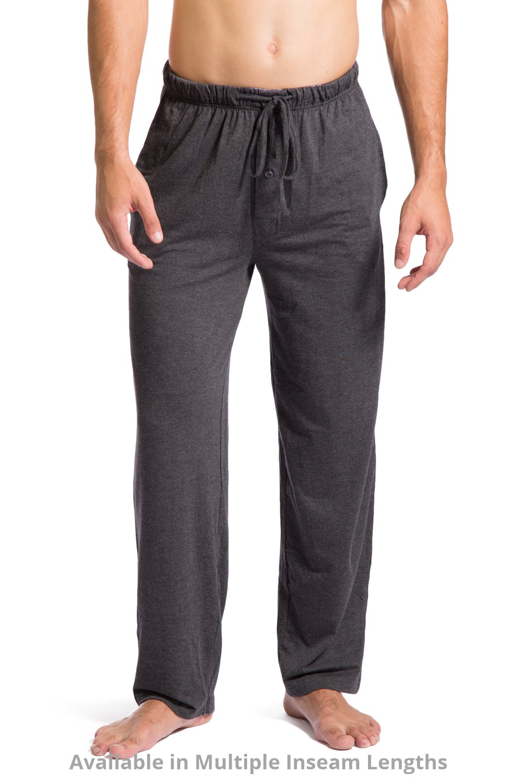 Fishers Finery Mens Ecofabric Jersey Pajama Pant Soft Comfortable HTHR Gry, M