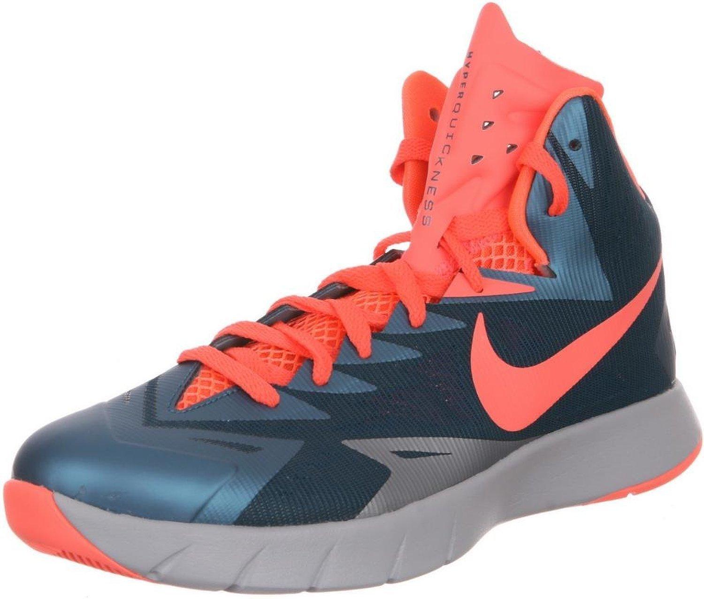 NIKE Men's Lunar Hyperquickness TB Basketball Shoes B00H5BVVJ6 10.5 D(M) US|Spice Blue/Bright Mango-wolf Grey