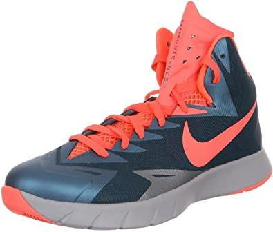 best website e14c1 4e240 Nike Mens Lunar Hyperquickness Basketball Shoes-spice blue bright  mango-wolf grey-