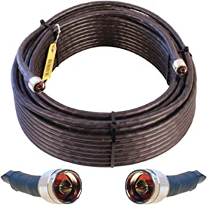 Wilson Electronics 100 ft. Black WILSON-400 Ultra Low Loss Coax Cable (N-Male to NMale)