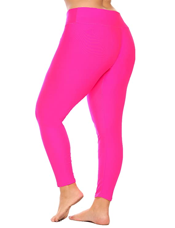 ed3a74177b03b Zeagoo Women's Plus Size Fold Over Waist Solid Pants Stretch Tights Running  Sport Yoga Leggings at Amazon Women's Clothing store: