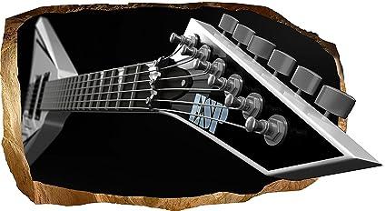 Startonight 3D Papel Pintado Guitarra eléctrica, Fotomurales Decoración Papel tejido-no tejido Mural Dimensión