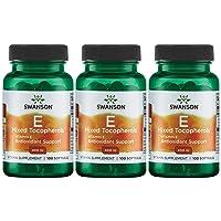Swanson Vitamin E Mixed Tocopherols 400 Iu 100 Sgels 3 Pack