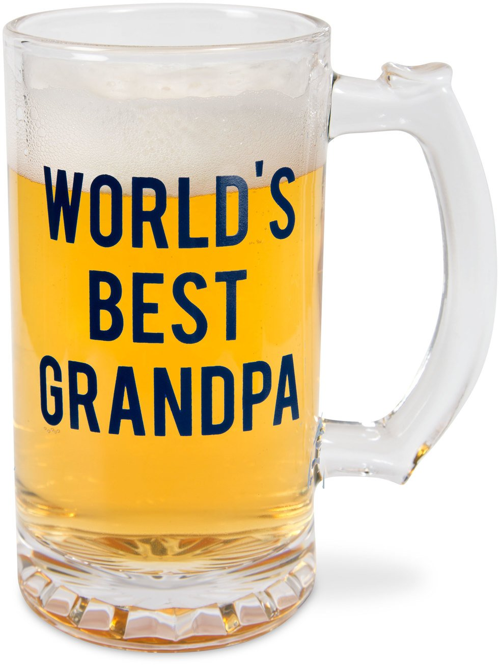 Pavilion World's Best Grandpa 16 oz Glass Beer Stein Pavilion Gift Company 14277