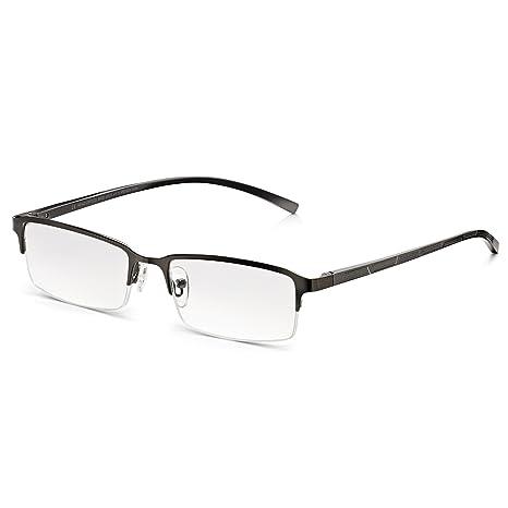 Read Optics de Hombre-Gafas de Lectura: Dioptrías +1/1,5/2/2,5/3/3,5 Para Leer/Ver de Cerca. Lentes Transparentes Antireflejos y Rasguño Resistentes. ...