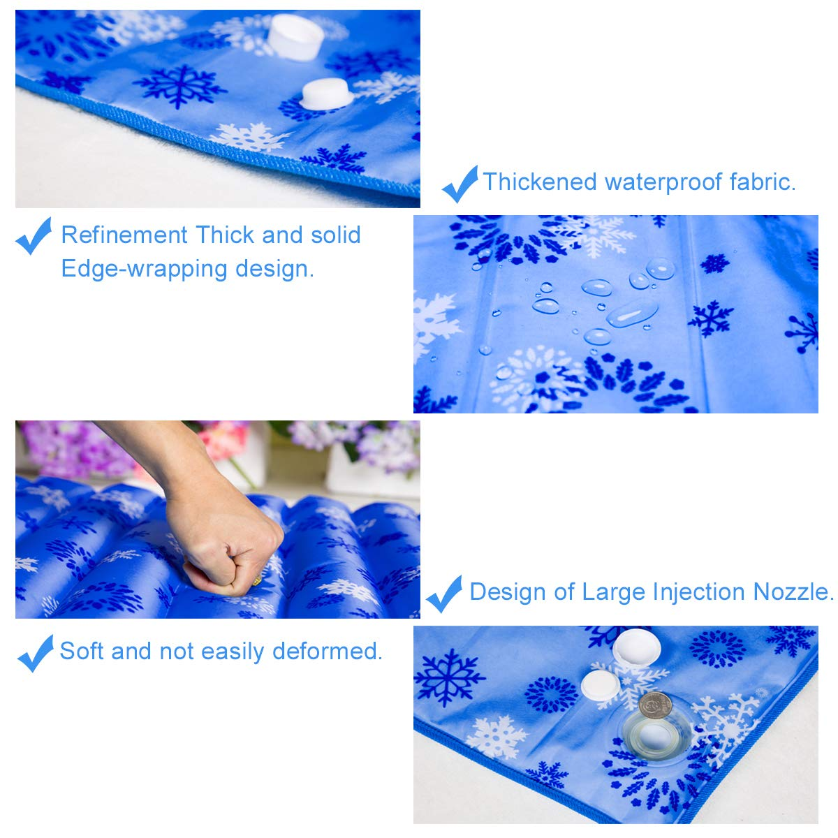 Methray Water Cooling Seat Cushion for Office Chair /& Car Seat Cushion 48CM Soft Summer Ice Water Pad for Baby,Children,Student,Office,Car,Travel