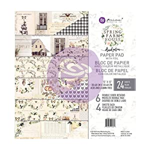 Prima Marketing Spring Farmhouse 12x12 Paper Pad