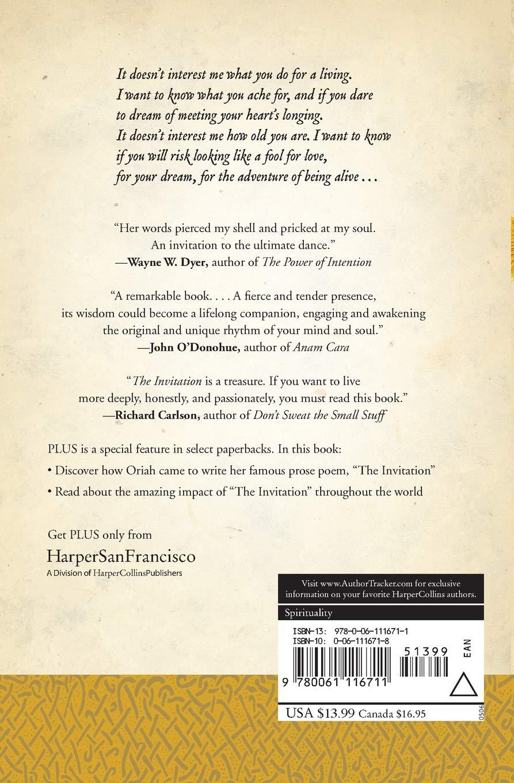 The Invitation Plus Oriah 9780061116711 Amazon Com Books