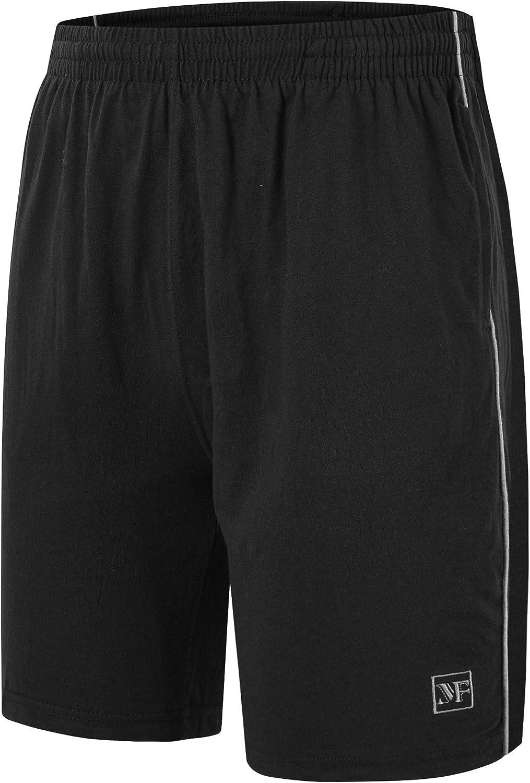 JINSHI Men's Pajama Shorts Cotton Sleep Shorts with Pockets Knit Pajama Bottom