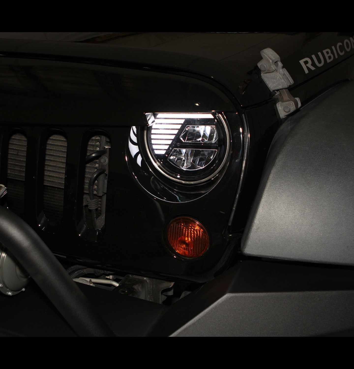Restyling Factory 07 16 Jeep Wrangler Jk True Led Exciting Scout Crafts 1 Or 2 Headlamp Headlight Blackhi Bean Low Beam Cree Leds Drl Die Cast Aluminum Large Cooling Heatsink