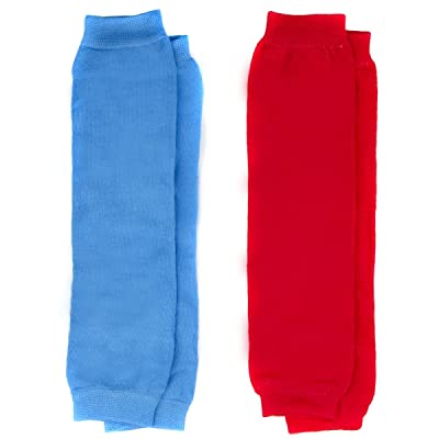 Baby Leg Warmers Solid Colors Set of 2 - Red and Blue