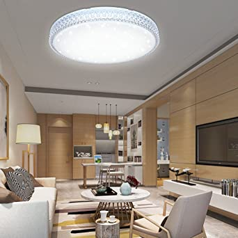 DESIGN LED Decken Lampe Wohn Schlaf Zimmer Kristall Effekt-Folie Beleuchtung
