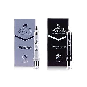 Age-Defying Apple & Grape Stem Cell Chest & Neck Cream + Lifting Facial Cream (2 Pack Bundle) | Bio Organica Collagen & Retinol Booster | Cell Rejuvenation | Reduce Dark Spots | Blackheads | Lifting |