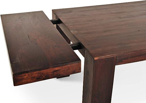 SAM® Esszimmer Tisch UST2 T mit Ansteckplatte dunkel 176 x