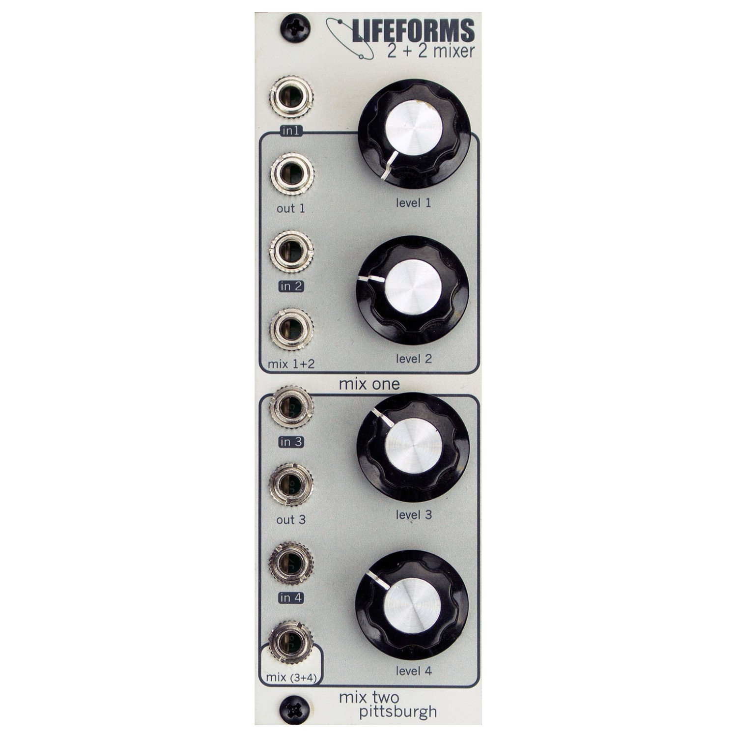 Pittsburgh Modular Synthesizers LIFEFORMS 2+2 MIXER by Pittsburgh Modular Synthesizers