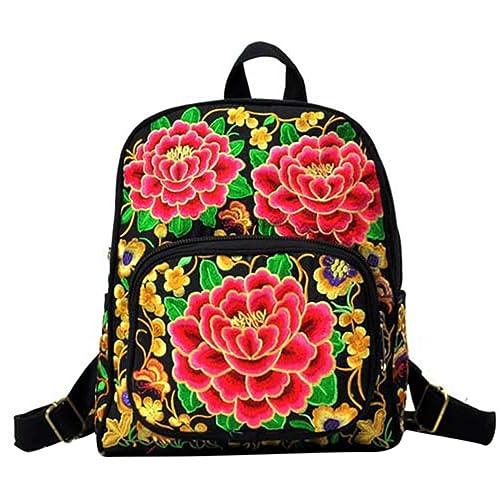 YAANCUN Mochilas Bolsos de Mujer Mochila de Lona Bordado Impresión Estudiante Backpack Bolsa de Viaje Deporte Mochila de Escolar: Amazon.es: Zapatos y ...