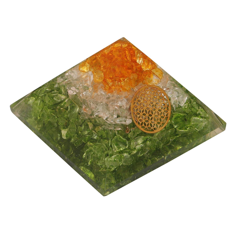 Energy Generator Vajra Multistone Orgone Pyramid EMF Protection Healing Crystal