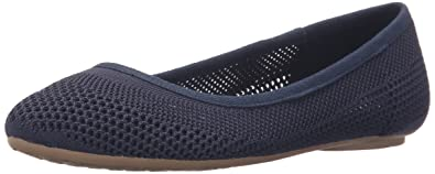 Dr. Scholl's Women's Refreshment Flat, Navy Knit Mesh, ...