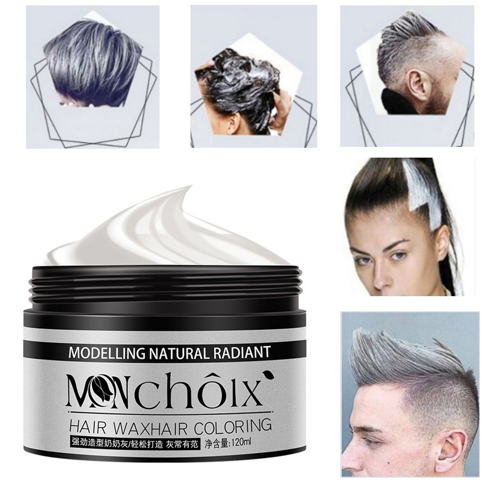 Tinte capilar, kission Granny Grey Modeling color Wax tinte desechable: Amazon.es: Belleza