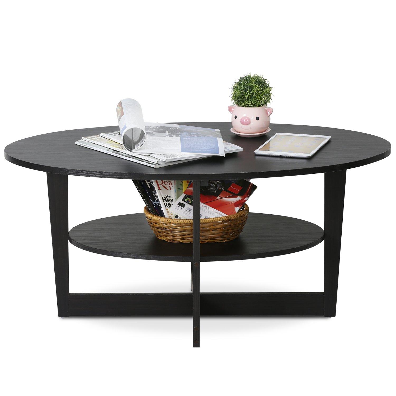 Amazon FURINNO Furinno JAYA WN Round Coffee Table