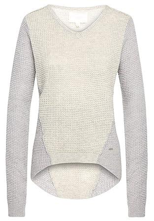 Khujo Damen V-Pullover grau L  Amazon.de  Sport   Freizeit f9e9dd6ae0