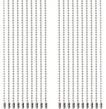 Shapenty 6 Inch Metal Ball Bead Chains Connector Clasp Extension Keychain Tag Key Rings for Jewelry Finding Making…