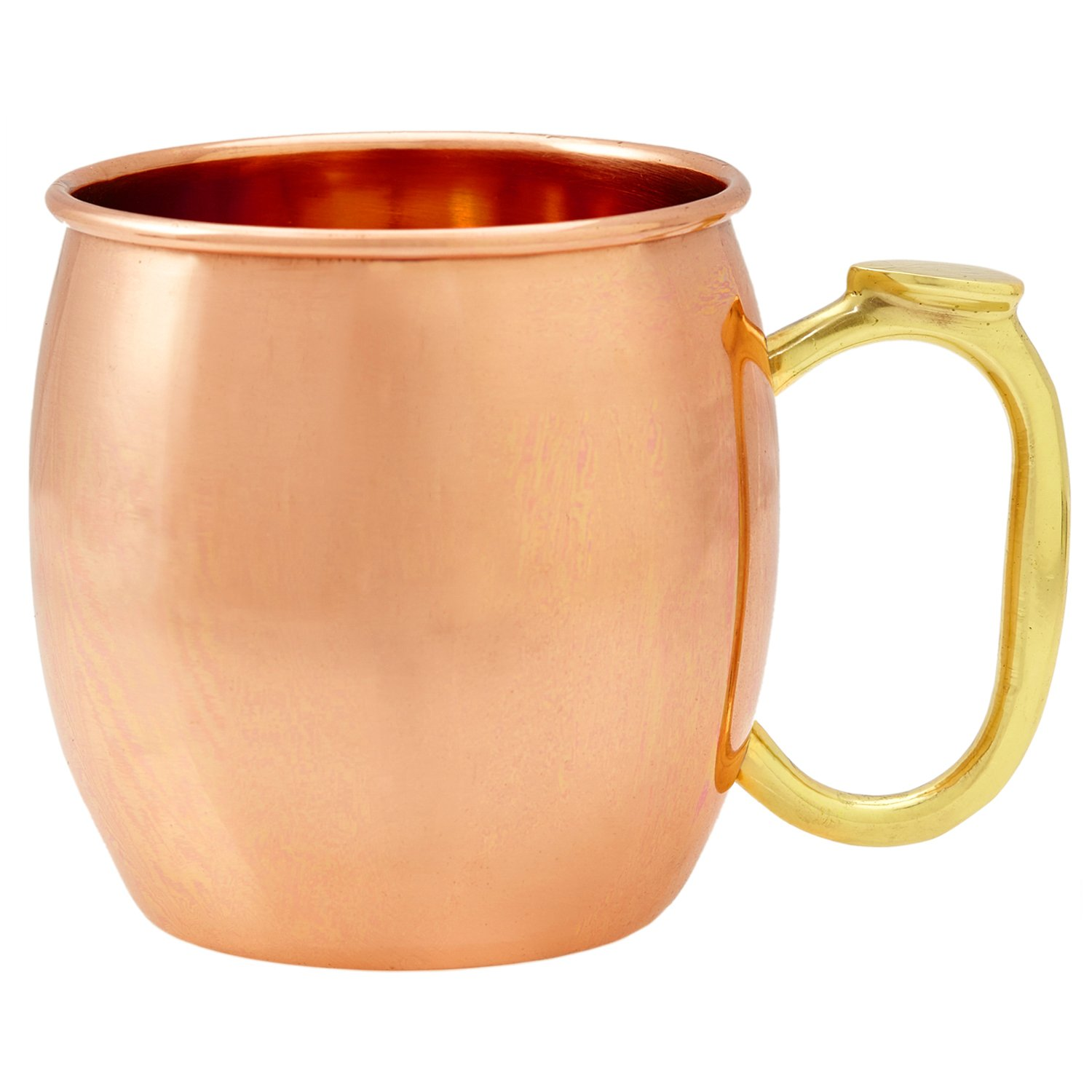 Solid Copper Moscow Mule Mug - Premium 100% Pure Copper 16oz Hammered Barware Cup