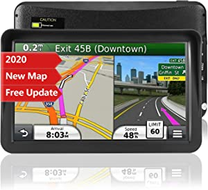 Car GPS Navigation, 9-inch HD Touch Screen Navigation Device Truck 8GB 256MB Navigation with POI High Speed Camera Warning Voice Guide Lane Lifetime Free Map Update