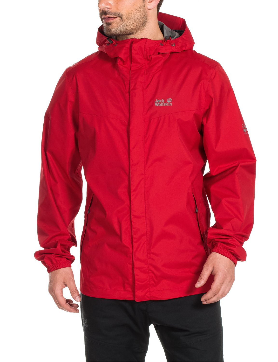 Jack Wolfskin CLOUDBURST JACKET MEN red fire by Jack Wolfskin