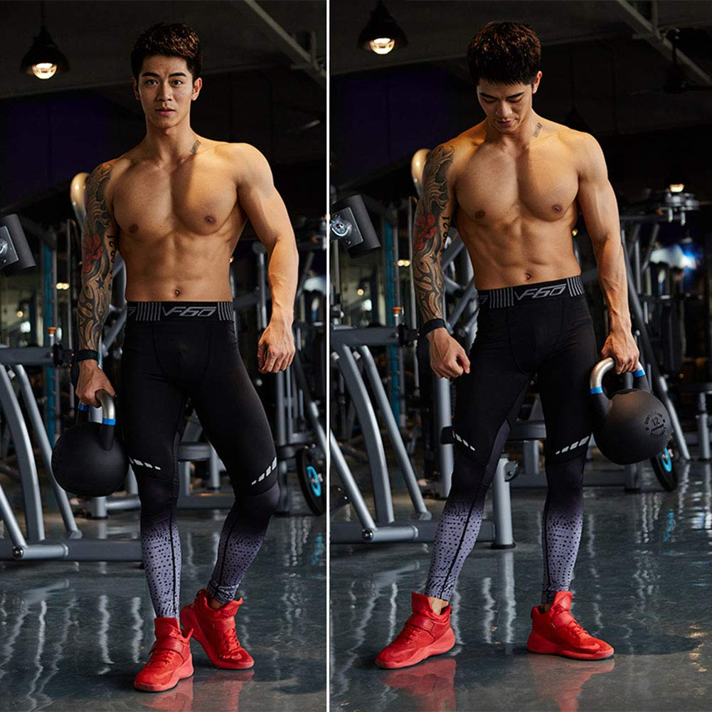 Mens Compression Sports Pants Cool Dry Running Workout Tights Leggings