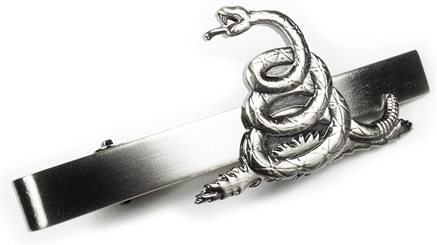 DON'T TREAD ON ME Rattlesnake Biker Motorcycle Suit Tie Bar Clip