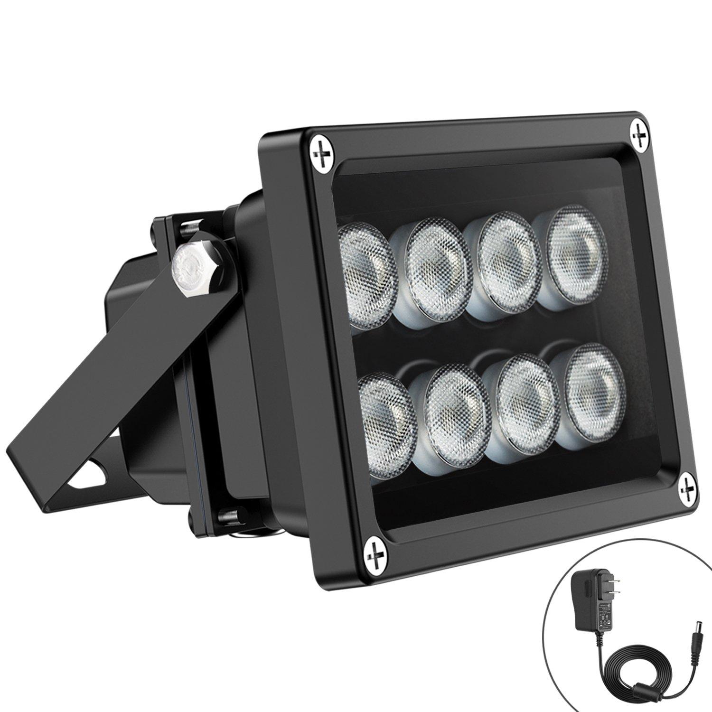Univivi IR Illuminator 90 Degree Wide Angle 8-LEDs IR Infrared Light for Security Cameras. by Univivi