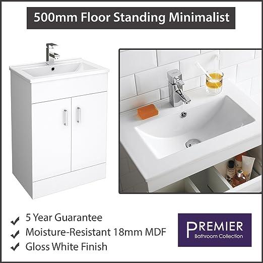 Premier Modern Bathroom Eden Mm Floor Standing Vanity Unit - Premier bathroom collection
