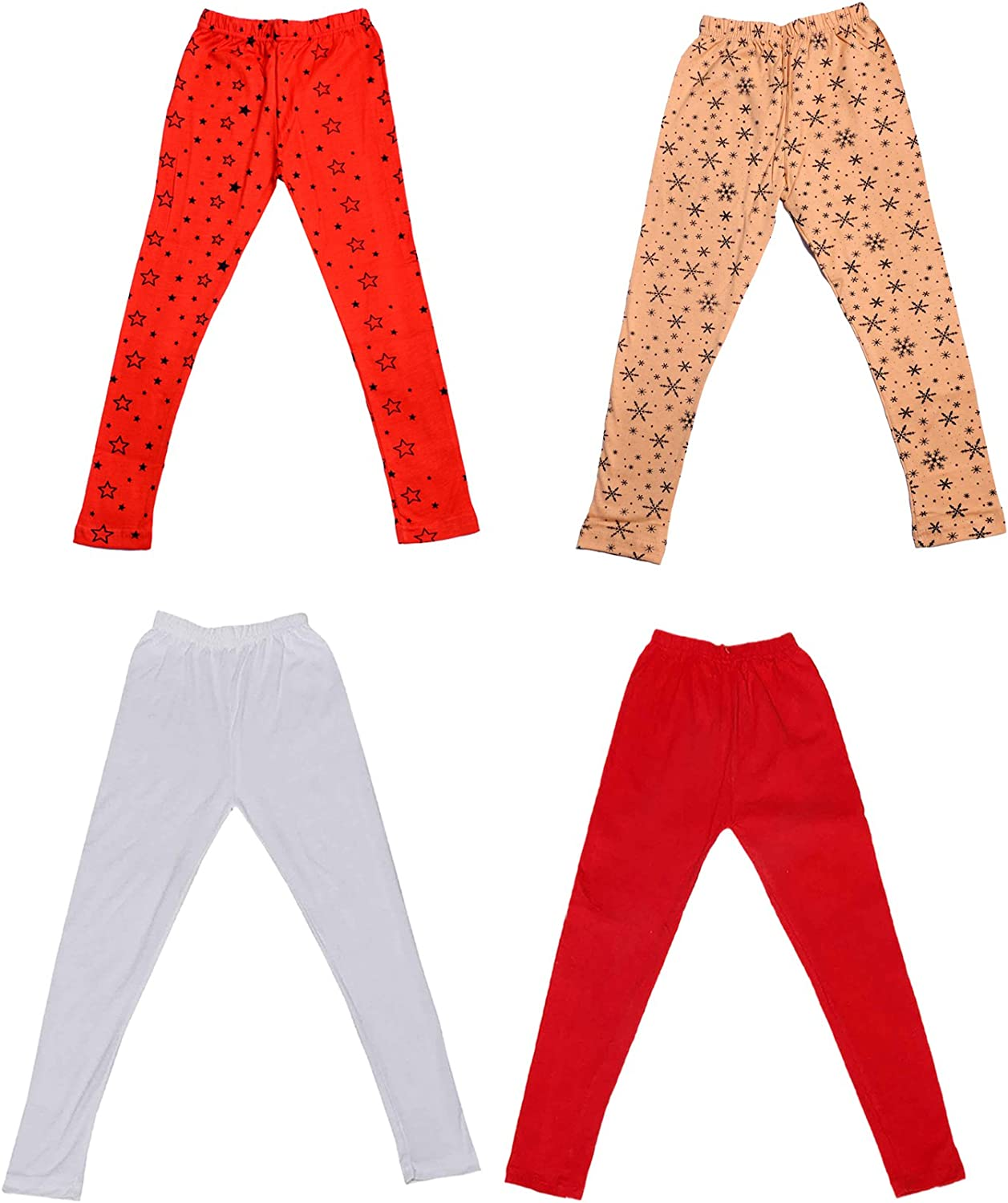 and 2 Cotton Printed Legging Pants Indistar Girls 2 Cotton Solid Legging Pants /_Multicolor/_Size-5-6 Years/_71403041619-IW-P4-28 Pack Of 4